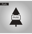 black and white style icon fir park vector image vector image