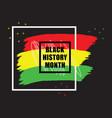 black history month colorful emblem banner vector image