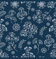 blue ornament decorative folk ornament fabric vector image vector image
