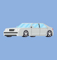 cars front side view hatchback auto icon detailed vector image