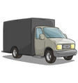 cartoon freight transportation black cargo truck vector image