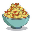 cartoon image of bowl of cereal vector image vector image