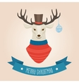 Christmas cute forest deer head logo vector image vector image