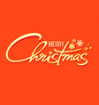 christmas holidays typography in retro style vector image