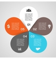 circle leaves infographic Template for diagram vector image vector image