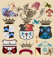 collection heraldic decorative elements vector image vector image