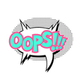 comic sound effect - Oops Pop art style vector image