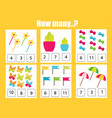 Counting educational children game math kids
