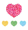 cute hearts made of colorful dots vector image vector image
