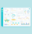 dashboard ui simple data software chart and hud vector image vector image