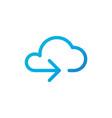 data cloud icon backup restore upload download vector image vector image