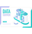 data server landing page isometric template vector image