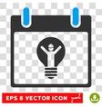 Electrician Calendar Day Eps Icon vector image vector image