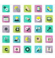 engineering and manufacturing icon set in flat vector image