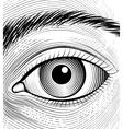 Engraving human eye vector image vector image