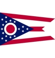 Flag of Ohio in correct size and colors vector image vector image