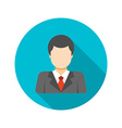 Flat Busness Man User Profile Avatar in Suit vector image