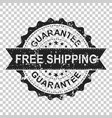 free shipping scratch grunge rubber stamp on vector image