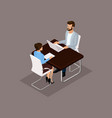 isometric set business people vector image vector image