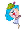 lurking clown vector image vector image