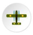 military biplane icon circle vector image vector image