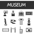 Museum icons set vector image