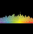 rainbow city landscape vector image