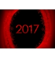 Red black New Year 2017 abstract wavy background vector image vector image