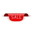 red sticker label sale vector image vector image