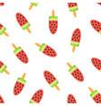 seamless pattern cute cartoon ice cream vector image vector image
