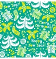 Seamless pattern Happy New Year vector image vector image