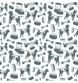 Seamless pattern of dog grooming vector image vector image