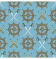 Seamless Pattern Retro Ship Steering Wheels vector image vector image