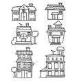 Set of house hand draw design vector image