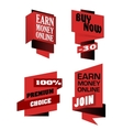 Set of origami labels for retail vector image vector image