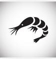 shrimp on white background vector image
