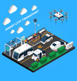 smart city isometric concept vector image vector image