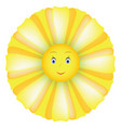 smile sunflower vector image