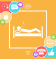 smoking in bed icon vector image
