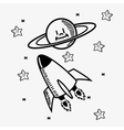 space stars doodle drawing image vector image vector image