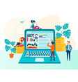 teamwork on website optimization and business vector image vector image