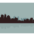 The original outline of the big city vector image vector image