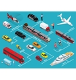 Transport infographics information layout with vector image vector image