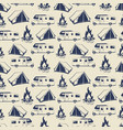 travel or camping seamless pattern vector image