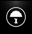 tree logo flat on a black background vector image vector image