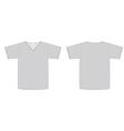 unisex vneck tshirt template vector image