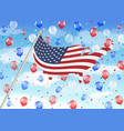 united state america flag balloon with sky vector image