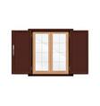 venetian blinds window composition vector image