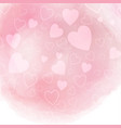 watercolor hearts background vector image vector image