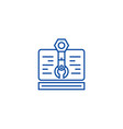 web project line icon concept web project flat vector image vector image
